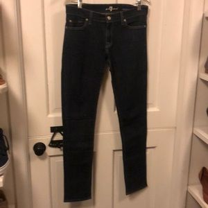 7 for all mankind Roxanne skinny dark denim jeans